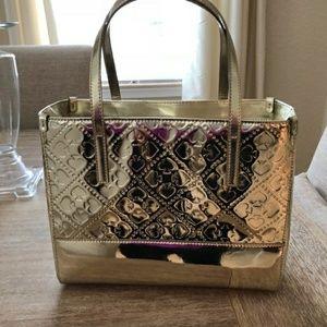 "♡Kate Spade♡ Gold purse 9.5""x12"""